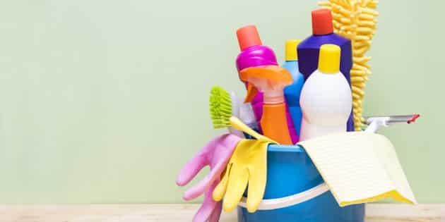 خطوات وضع المنظفات المنزلية