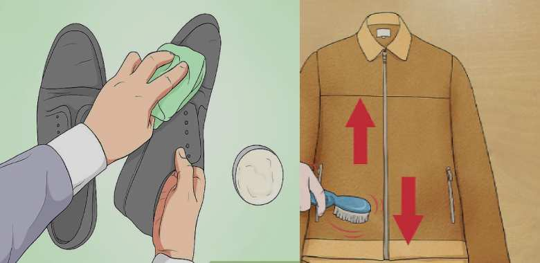 ما هي طريقة تنظيف الأحذية والسترات والإكسسوارات المصنوعة من الشامواه